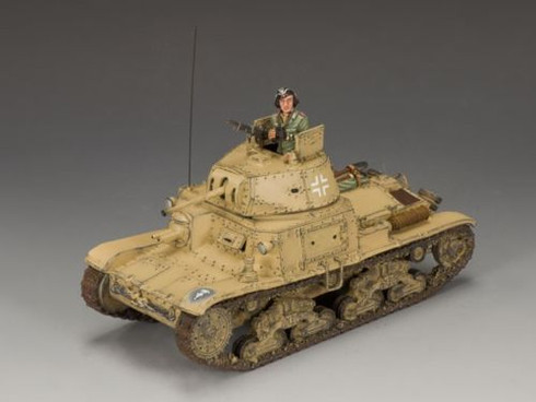 King & Country Soldiers AK075 WWII Afrika Korps Carro Armato M13/40 Tank Retired