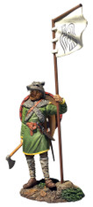 "W Britain Wrath of the Northmen 62131 ""Arnlaug"" Viking with Raven Banner"