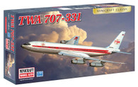 Minicraft Model Kit 14651 TWA 707-331 Plastic Aircraft Model 1/144 Scale
