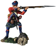 W Britain 16055 42nd Royal Highland Regiment Battalion Coy Standing Firing No.2, 1760-63