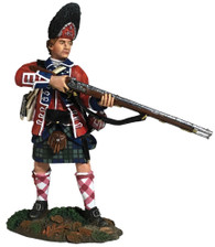 W Britain 16057 42nd Royal Highland Regiment Grenadier Standing Alert 1760-63