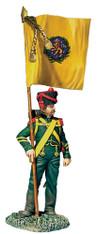 W Britain 36182 Nassau Grenadier with Regimental Colour, 1815