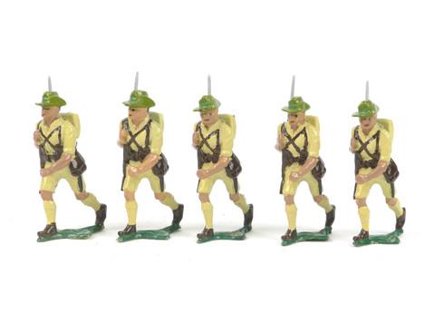 Authenticast Comet Australian Infantry Walking 1946 5 pieces