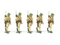Authenticast Comet Australian Infantry Walking 1946 5 pieces