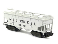 American Flyer Authentic S Gauge Train Milwaukee Road Covered Hopper 6-48604