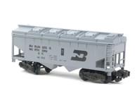 American Flyer Authentic S Gauge Train Burlington Northern Covered Hopper 6-48605