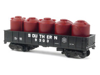 American Flyer Authentic S Gauge Train Southern Gondola with Cannisters 4-9303