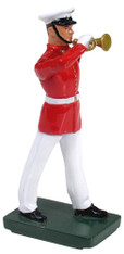 W Britain Toy Soldier 48506 USMC Bugler, Commandant's Own, Red Tunic