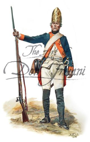 Hessian Fusilier Regt Von Lossberg 1776 - American Revolution