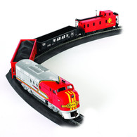 Bachmann Trains 00647 Santa Fe Flyer Freight Set HO Scale