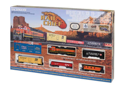 Bachmann Trains 00706 BNSF Rail Chief Freight GP40 Set HO Scale