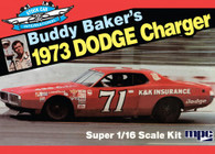 MPC Plastic Models 811 Buddy Baker 1974 Dodge Charger Stock Car 1/25 Scale