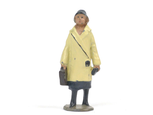 Johillco Toy Soldiers Railway Staff  Lady with Bag #135G