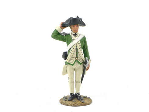King & Country AR049 Marine Officer Saluting American Revolution