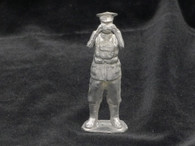 Unpainted World War II British Officer with Binoculars Yeknik Toy Soldier Collection