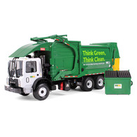 First Gear Diecast Collectible Waste Management Mack TerraPro With Heil Half/Pack Freedom Front End Loader With CNG Tailgate Includes Bin 1/34 Scale