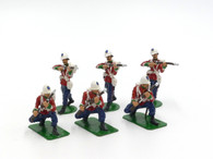 Alymer Toy Soldiers Set AB-6 British 24th Foot Regiment in Action - 1879