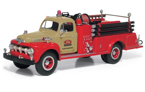 First Gear Pumper Truck Toy 1951 Ford F Series 19-3980 1/34 Scale