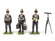 Steadfast Soldiers Royal Field Artillery 3 Figures with Gun Sight