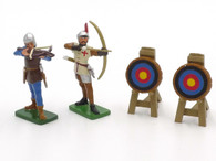 WBritain Knights of Agincourt 41113 Archers Target Scene