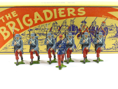 Authenticast Comet Toy Soldiers Set 609 French Infantry Walking 1915