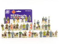 RMT 99418 Ready Made Trains BeePeople Standing Figure Set 48 Pieces O Gauge