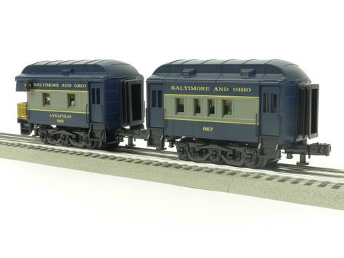 RMT 930232 Ready Made Trains O PEEP B & O Passenger Car Set O Gauge