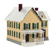 MTH 30-90547 O Gauge #6 Farm House w/Operating Christmas Lights