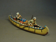 John Jenkins Designs MF-07W French Militia in Canoe Trois Rivieres Brigade