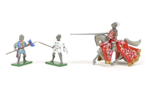 Britains Tournament Knights With Spears And Lance W Britain Toy Soldiers 8763