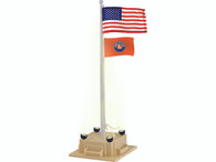 Lionel 6-84307 Illuminated Flagpole with Flag