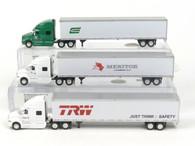HO Trains SP125, SP060, SP061 International Prostar Sleeper with 53' Dryvan Die-cast Model 1/87 Scale