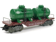 Louis Marx 5543 Cities Service Flat Car with Dual Tanks