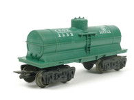 Louis Marx Cities Service 2532 Single Dome Tank Car Green