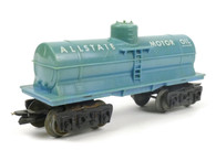 Louis Marx AllState Motor Oil Single Dome Tank Car Light Blue