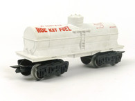 Louis Marx AllState Rocket Fuel Single Dome Tank Car White