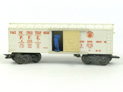 Marx Trains Marline 43461 Pacific Fruit Express Operating Milk Car White