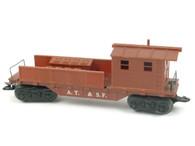 Louis Marx Trains 4590 ATSF Atkinson Topeka & Santa Fe Work Caboose