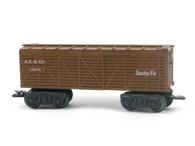 Louis Marx Trains 13975 ATSF Atkinson Topeka & Santa Fe Stock Car