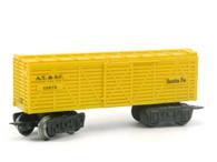 Louis Marx Trains 13975 ATSF Atkinson Topeka & Santa Fe Stock Car Yellow