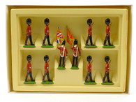 WBritain Scots Guards Colour Party and Escort 10 Pieces