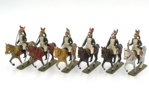 CBG Mignot Toy Soldiers French Dragoons Napoleon Mounted