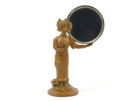 German Heyde Nippet Souvenir Desk Accessory Figure Standing Holding Mirror