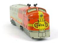 Louis Marx Trains 21 Santa Fe Diesel Warbonnet FT A Unit Powered