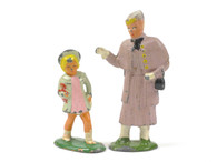 Barclay  Elderly Lady and Little Girl with Doll American Dimestore Figurines