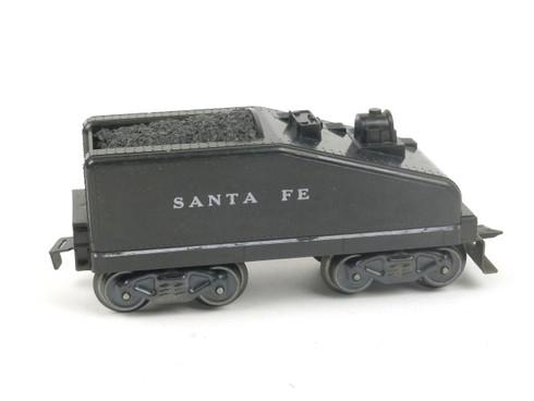 Marx Trains 961 Back Sloped Tender Santa Fe 8 Wheel Plastic Black O/O27 Gauge