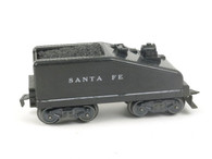 Marx Trains 961 Back Sloped Tender Santa Fe 8 Wheel Plastic Black O/O27 Gauge