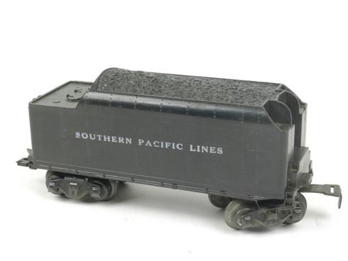 Marx Trains 1951 Tender Southern Pacific Lines 8 Wheel Plastic Black O/O27 Gauge