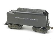 Marx Trains 1951 Tender Santa Fe Lines 8 Wheel Plastic Black O/O27 Gauge