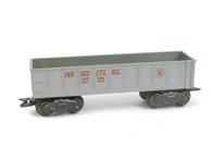Marx Trains 347100 Pennsylvania 8 Wheel Gondola Silver O/O27 Gauge